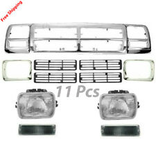 New Bundle For DODGE D150 Fits 91-93 Front Grille Headlamp Door Signal Lamp 11pc