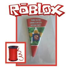 10 personalised ROBLOX kit/party bags/sweet cone bags /birthday party bag