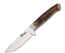 BOKER Arbolito Hunter Fixed Blade Hunting Knife with Leather Sheath