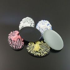 33247 Mixed Color Resin Jewelry Beauty Flower Rose Cameo Cabochon Charms 18pcs