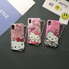 Cute Bow Hello Kitty Melody Tempered Glass case cover for iphone 11 Pro Max 7 8+