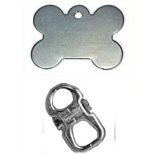 PET ID TAG PERSONALISED DOG NAME TAGS FREE TEXT & SECURE CLIP HOLDER TAGABINER