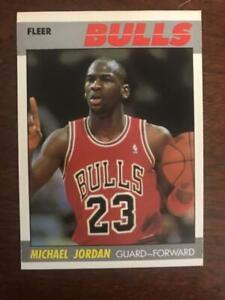 1987-88 Fleer Basketball Complete Set 1-132 Michael Jordan EX/MT