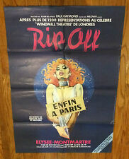 "Vintage French Theater Poster ""Rip-off"" Elysse Montmarte pin-up Showgirl Dancer"