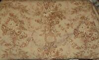 "VINTAGE Fabric OMEGA TEXTILE PATT. 5748-A  4.5yd 108""w Brown, Tan & Beige"