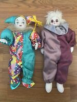 Sand Filled Clown Porcelain Face And Hands Lot Doll Vintage Good Condition Rare