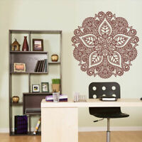 Wall Decal Vinyl Sticker Mandala Menhdi Flower Om Indian Hindu Buddha (Z2962)
