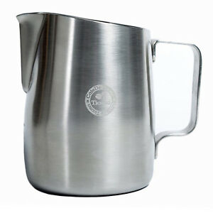 NEW Tiamo 450ml Tapered Brushed Milk Frothing Pitcher Jug perfect for latte art