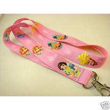 NEW Disney Princess Pink Neck Lanyard Strap Cell Mobile Phone,ID Card,Keys Gifts
