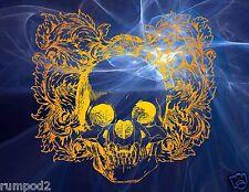 Skull Poster/Psychedelic/17x22 inch/Death Skull Poster/Illustration/Mystical