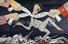 Strangle Hitler Soviet World War 2 Military Poster 18x24