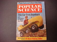 Popular Science Magazine,December 1961,This Car Goes Anywhere,Fallout Shelters