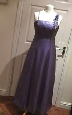 Debut Debenhams Lilac Purple Shimmer Long Full Length Evening Prom Dress Size 12