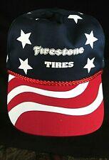 New ~ Rare American Flag ~ Firestone Tires ~ Strap-back ~ Cap / Trucker / Hat ~