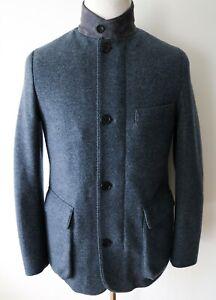 LORO PIANA Blue Roadster Cashmere Castorino Nutria Fur Lined Jacket Coat Small
