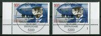 2 x Bund 1597 gestempelt Eckrand Vollstempel ESST Bonn Formnummer 1 Zeppelin