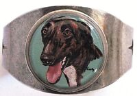 Greyhound Original Art Cuff Bracelet