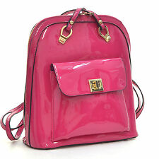 New Dasein Lady Leather Backpack Travel Rucksack Bag Satchel Purse Schoolbag