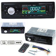 12V Car Stereo Audio 1 DIN In-Dash FM Aux Input Receiver SD USB MP3 Radio Remote