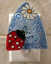 Pampeana artisan made glass night light - LADYBUG - #PMP-NL-LBG