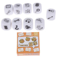 9pcs Dice Telling Story with Bag Story Dice Game Family Imagine Magic Toys U_X