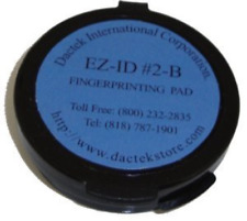 "Dactek Fingerprint Pad 2"" Diameter, Blue"