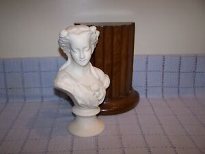Vintage Parian Ware Bisque Bust of a Victorian Woman