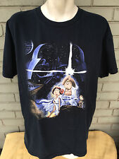 Family Guy Star Wars T-Shirt Lois Chris Griffin Size XL Black Darth Vader Fox TV