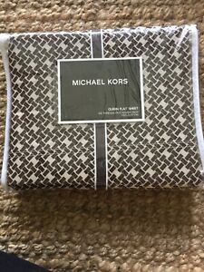 NIP Michael Kors Mombasa 350TC Queen Flat Sheet Retail $90