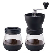 MANUAL COFFEE GRINDER WITH 2 CANISTER JARS