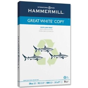 """Hammermill Copy Paper - For Laser, Inkjet Print - 11"""" X 17"""" - 20 Lb - Recycled -"""