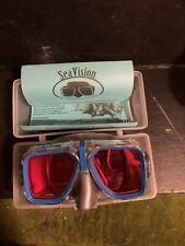 New listing Sea Vision Classic Scuba Mask w,blue trim Magenta Lenses/