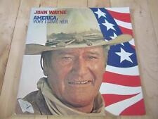 JOHN WAYNE LP AMERICAN WHY I LOVE HER PLEDGE OF ALLEGIANCE  TAPS MORE 33 RPM