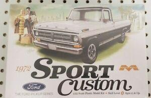 Moebius Models 1/25 1972 Ford Sport Custom Pickup Truck Model Kit #1220 NEW