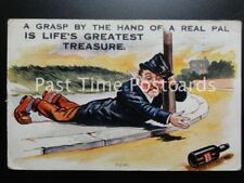 """c1925 comic PC - used """"A Grasp by the hand of a real Pal' IS LIFE'S GREATEST"""""""