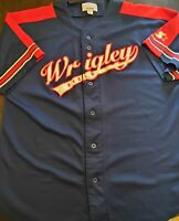 Starter Wrigley Field Men's XXL Stitched Baseball Jersey Chicago Cubs Blue Red