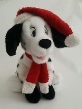 DISNEY STORE 101 DALMATIONS Christmas Holiday 2000 Stuffed Animal Plush Toy 13""