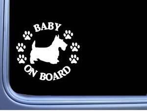 """Baby On Board Scottie L503 6 """" Aufkleber Hund Aufkleber Scottish Terrier"""