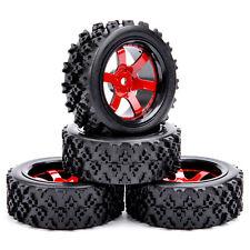4Pcs Rubber Off Road Tires Wheel Rim D6NKR For HSP HPI RC 1:10 Racing Car New