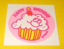 VTG 80s TREND Scratch & Sniff WHiPPED CREAM Scent MATTE Cupcake Sticker~BIRTHDAY