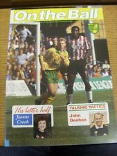 1992/1993 Norwich City: On The Ball - Issue 13 [November] - Official Club Issued