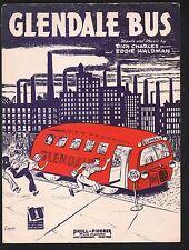 Glendale Bus 1943 Sheet Music