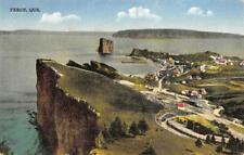 Percé, Québec, Canada Bird's-Eye View ca 1910s Vintage Postcard