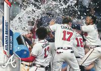 2020 Topps Series 1 #218 Atlanta Braves Team Card