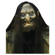 VIDEO 7' HALLOWEEN LIFE SIZE ANIMATED Hagatha Towering Witch PROP HAUNTED Spirit