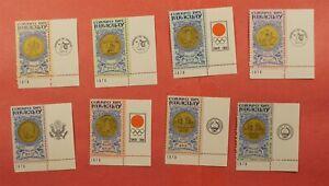 8 MARGIN INSCRIPTION SET 1965 PARAGUAY JFK #858-65 MNH