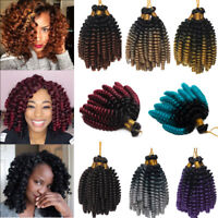 Ombre Afro Jumpy Wand Curl Twist Crochet Bounce Braids Hair Extensions as human