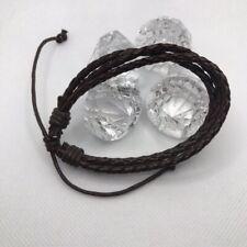 With Adjustable Straps For Men Diamond Bella Genuine Leather Cuff Bracelet