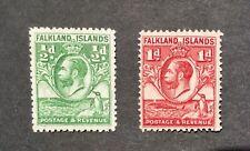 Falkland Island 1929 - 1937 George V Whales & Penguins Definitives MM