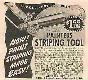 "Painters' Striping Tool Chicago Vintage  2"" to 3"" Magazine Print Ad 0073"